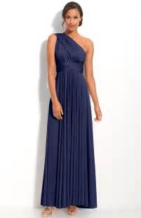 navy blue dress for wedding one shoulder navy blue bridesmaid dresses to inspire you cherry