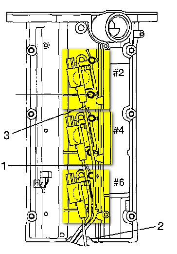where is the 6 coil pack on a 2004 kia sorento lx 4wd i looked for engine diagrams and