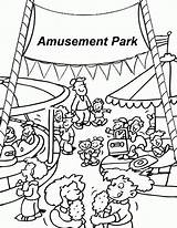 Coloring Amusement Park Pages Fair Carnival Print Food Printable County Vacation Site Pdf sketch template
