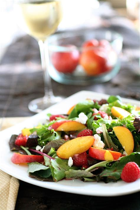 nectarine  summer fruit salad  curvy carrot