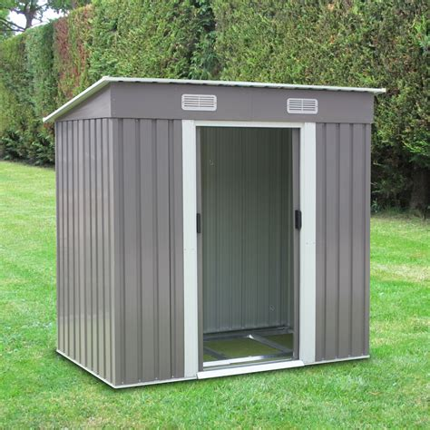 tool shed 6 x 4 grey outdoor toolshed garden yard tool storage