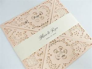 Laser cut wedding invitation for Wedding invitation printing prices