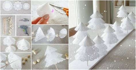 creative ideas diy pretty paper doily christmas trees