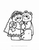 Coloring Pages Groom Bride Colouring Clipart Library Coloringhome sketch template
