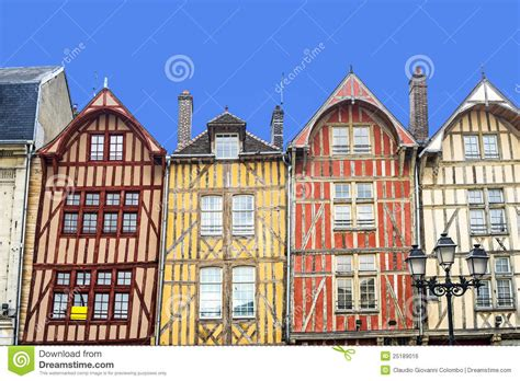 troyes maisons 224 colombage color 233 es photo stock image 25189016