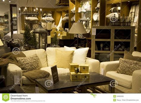 luxury furniture home decor store stock image image