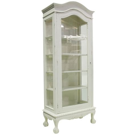 French Provincial 1 Door Showcase Cabinet   Temple & Webster