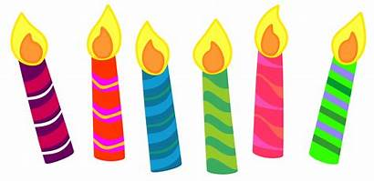 Candles Birthday Clipart Cake Single Yellow Classroom