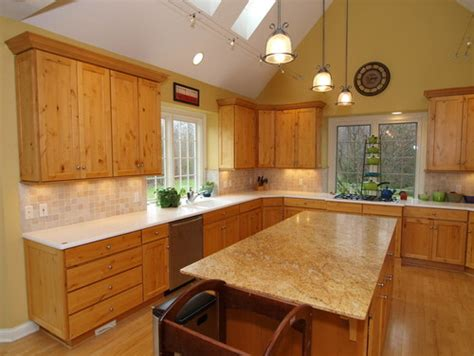 paint color in kitchen with hickory cabinets oak cabinets