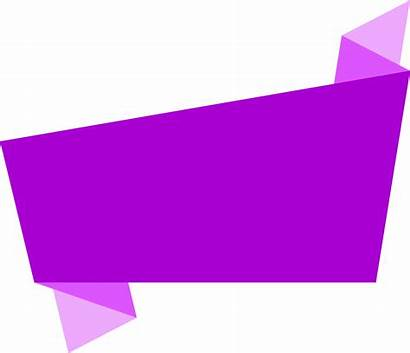 Banner Square Origami Transparent Scalable Graphics Banners
