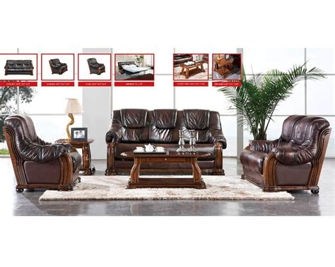 european leather sofa set european design leather sofa set in light brown finish 33ss151