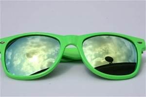 Neon Green Frame Aviator Sunglasses