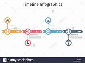 Timeline Infographics Template With Arrows  Flowchart