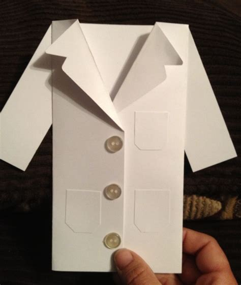 lab coat invitationthank  card science party