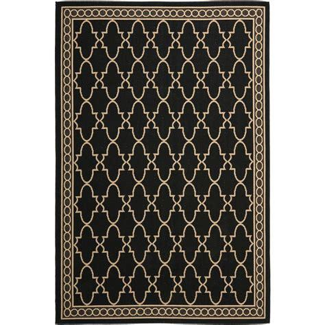 area rugs black safavieh courtyard black beige 8 ft x 11 ft indoor 1335