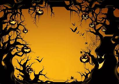 Halloween Template Spooky Backgrounds Invitation Invitations Invite