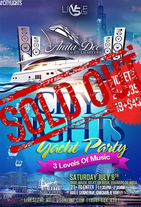 Chicago Boat Party 4th Of July by Tickets For City Lights Boat Party In Chicago From Showclix