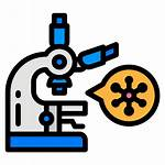Icon Test Virus Covid Lap Microscope Coronavirus