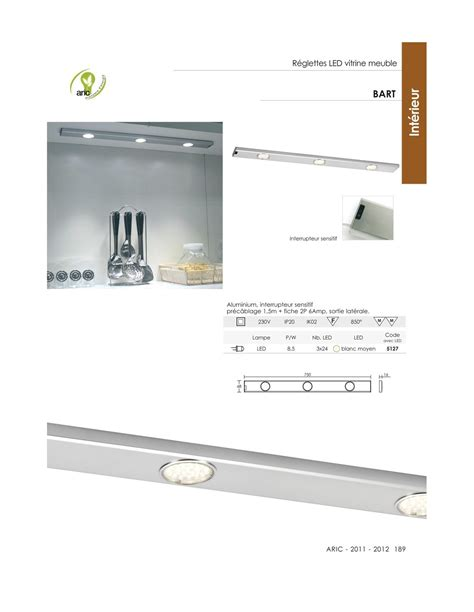 eclairage led sous meuble cuisine eclairage sous meuble à led 70cm