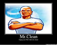 cleaning like the example of ben cleaning my own house  Real Mr Clean