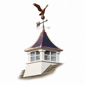 Accentua charleston 24 in x 24 in x 63 in composite for Cupola with weathervane