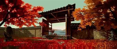 Gifs Fighting Background Zen Temple Huge Fall