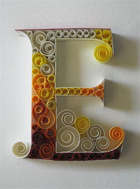 beautifully ornate quilled letters  sabeena karnik ego alteregocom