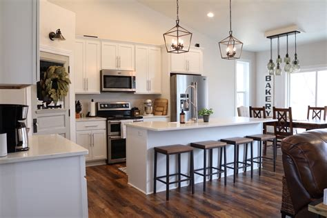 rustic kitchen island modern farmhouse kitchen reveal sugar maple notes