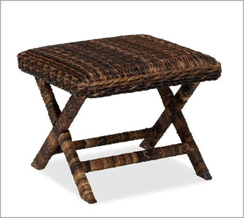 seagrass stool pottery barn for the home chairs leather and honey