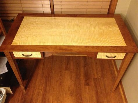 I used 3 1/4 red oak unfinished flooring for the center and outer row and 2 1/4 unfinished maple for the insert. Writing Table - Cherry and Curly Maple - by verw0003 ...