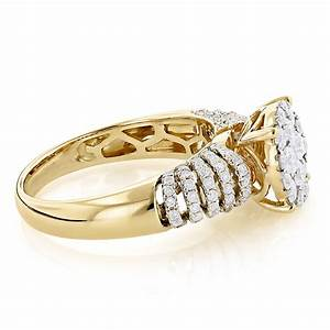 unique engagement rings ladies diamond ring 128ct 14k gold With ladies wedding ring