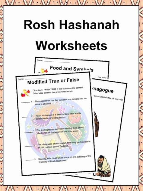 rosh hashanah facts information worksheets  kids