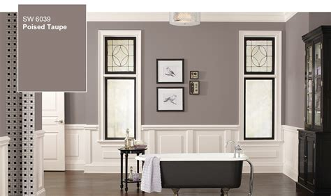 poised taupe decorating idea from sherwin williams