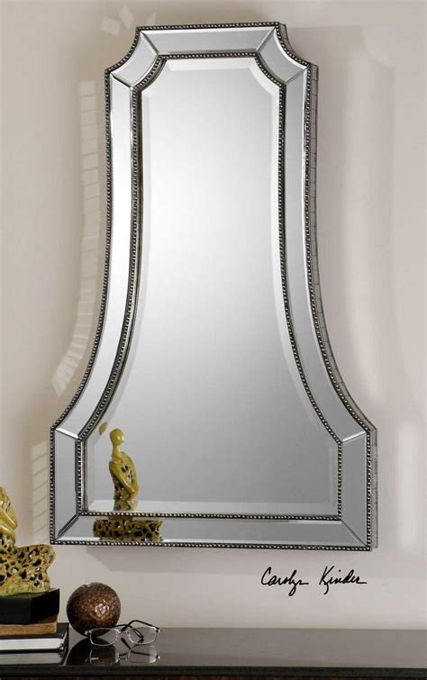 Uttermost Mirrors by Uttermost Cattaneo 26 X 40 Silver Beaded Wall Mirror Ut08077