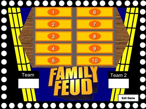 free family feud template reasons for leaving family feud