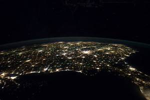 Photo: Southern United States at Night as Seen From the ...