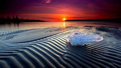 Cool Sunset Backgrounds Wallpapers Beach Ice Lake