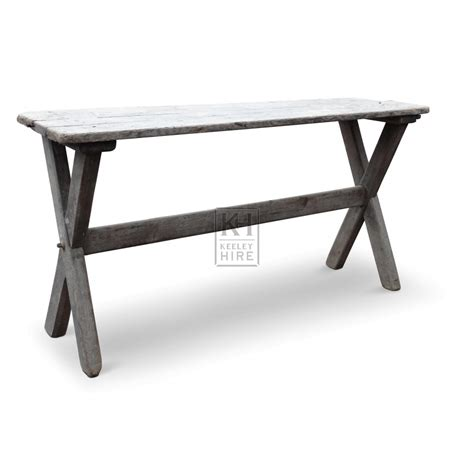 tables prop hire narrow wooden table   legs