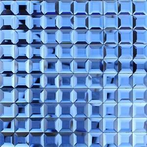 Crystal, Mosaic, Blue, Glass, Tile, Backsplash, Kitchen, 3d, Pyramid, Patterns