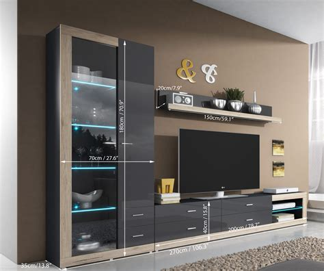 Living Room T V Unit by Entertainment Wall Units Tv Unit Storage Modern Wall