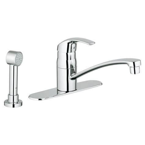 grohe kitchen faucet grohe eurosmart single handle side sprayer kitchen faucet