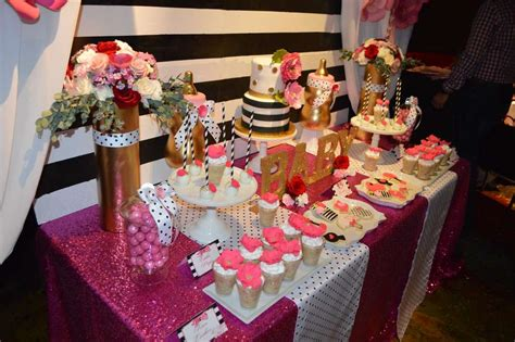 Black And Gold Baby Shower by Kate Spade Inspired Baby Shower Baby Shower Ideas