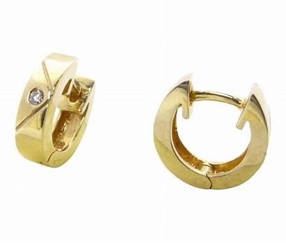 Christian Gouden Oorclips Diamant Bestel Binnen