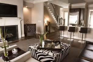 black and brown living room ideas zebra ottoman contemporary living room sherwin