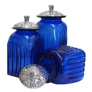 Kitchen Canisters Pewter by Mexican Kitchen Canisters Talavera Blown Glass Canisters