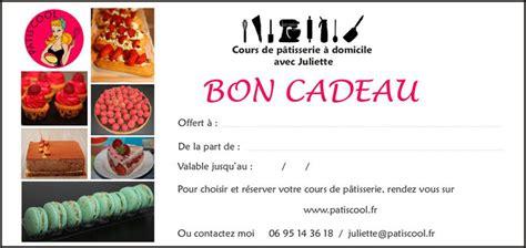 carte cadeau cours de cuisine bon cadeau patiscool cours de pâtisserie à domicile