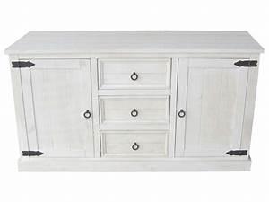 Buffet Salon Ikea : bahut 2 portes 3 tiroirs saraya en pin massif blanchi vente de buffet bahut vaisselier ~ Teatrodelosmanantiales.com Idées de Décoration