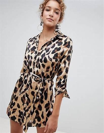 Parisian Camisero Estampado Leopardo Vestido Maculata Camicia