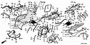 Honda Motorcycle 2018 Oem Parts Diagram For Cowl