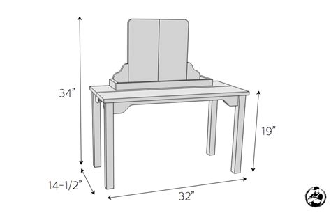 diy vanity table plans kid 39 s makeup vanity rogue engineer